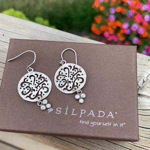 W2368 Silpada sterling cubic zirconia earrings